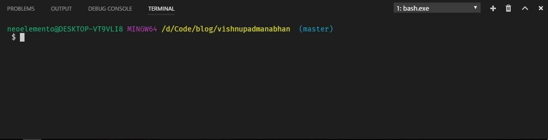 Default Git Bash