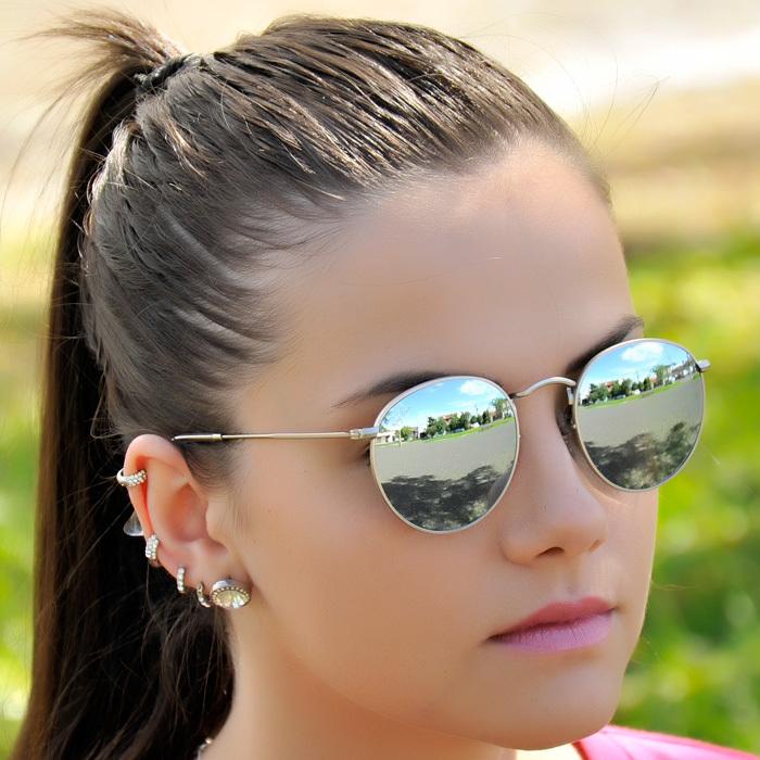 gafas ray ban mujer round metal