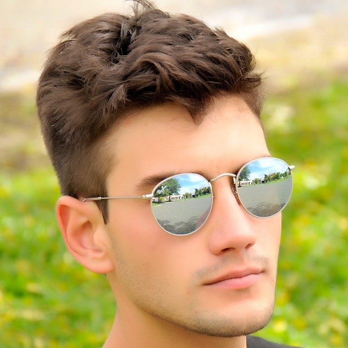 ray ban round hombre