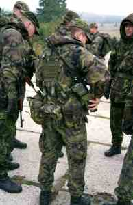 Tactical pouches used in the army