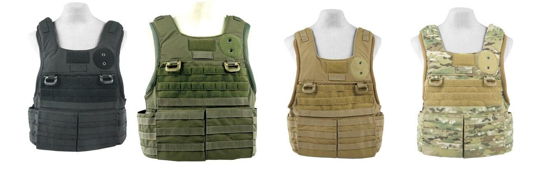 Plate carrier vests color pattern