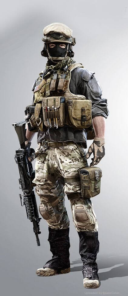 Full tactical assault gear outfit