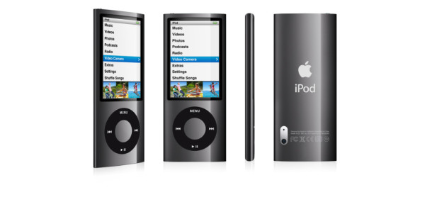Ipod nano images front, side and back views
