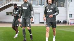 Cavani trains with Man United ahead of PSG visit
