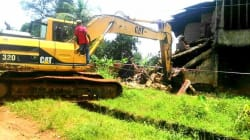 Anambra Govt Demolishes Partially Collapsed Building That Killed Husband & Wife