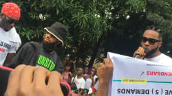 Phyno, Flavour, Kcee, Zoro storm #EndSARS protest