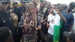 #EndSARS: Hunters join protest, provide security cover in Osun