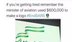 """#EndSARS: """"If You Are Tired, Remember Minister Of Aviation Used $600,000 For Logo"""" – Wizkid Gingers Protesters"""