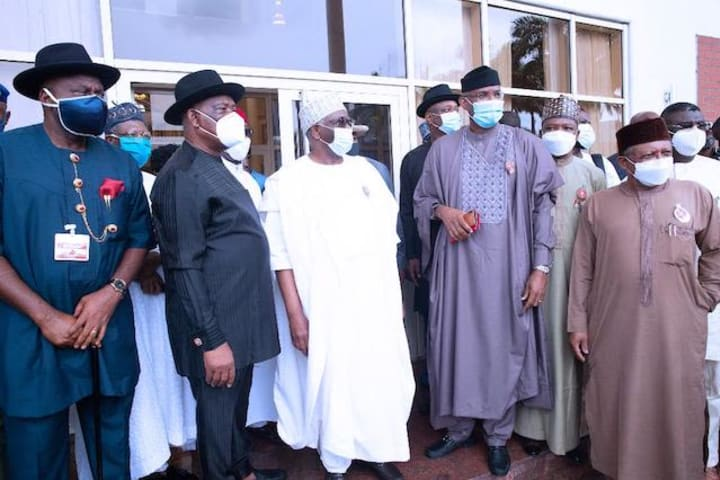 Photos: Presidential team meets Wike, other South South governors