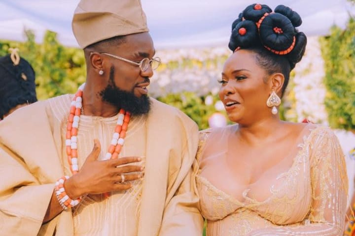 Yemi Alade, Patoranking thrill fans with wedding shoot