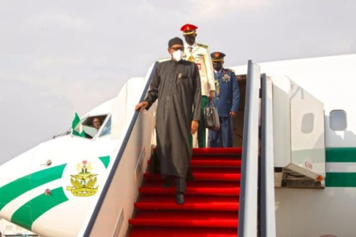 Breaking: Buhari returns to Nigeria after medical check-up in London