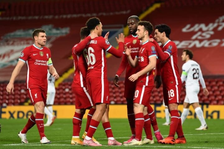Diogo Jota scores Liverpool's 10,000th goal