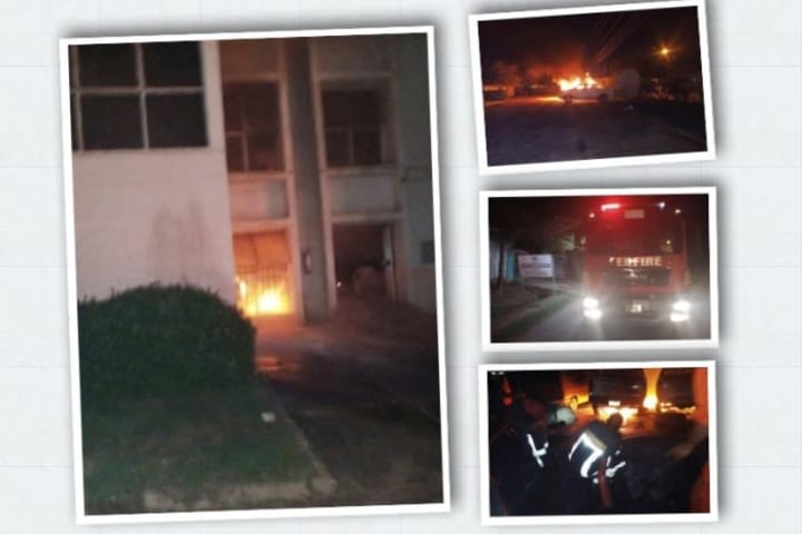 JUST IN: Fire guts INEC headquarters in Enugu