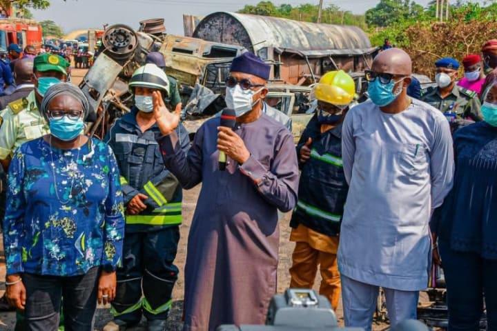Governor Abiodun visits Ogun tanker explosion scene, victims