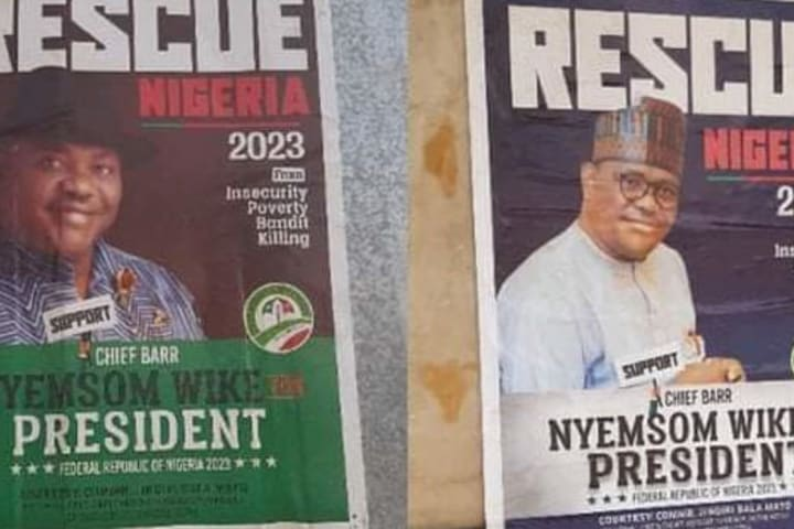 Rescue Nigeria 2023: Wike's presidential posters flood Abuja