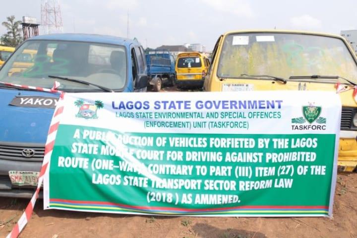 Photos: Lagos govt auctions 88 seized vehicles