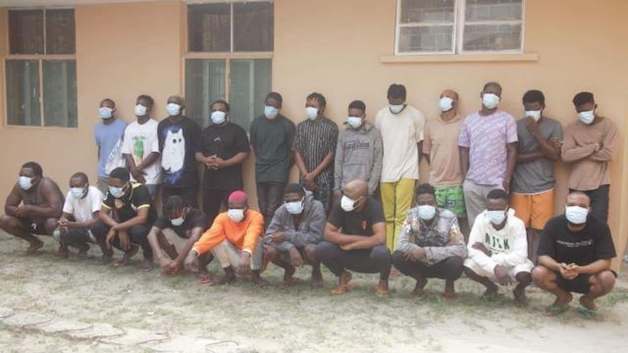 EFCC identifies 22 Yahoo Yahoo boys arrested in Sangotedo Lagos