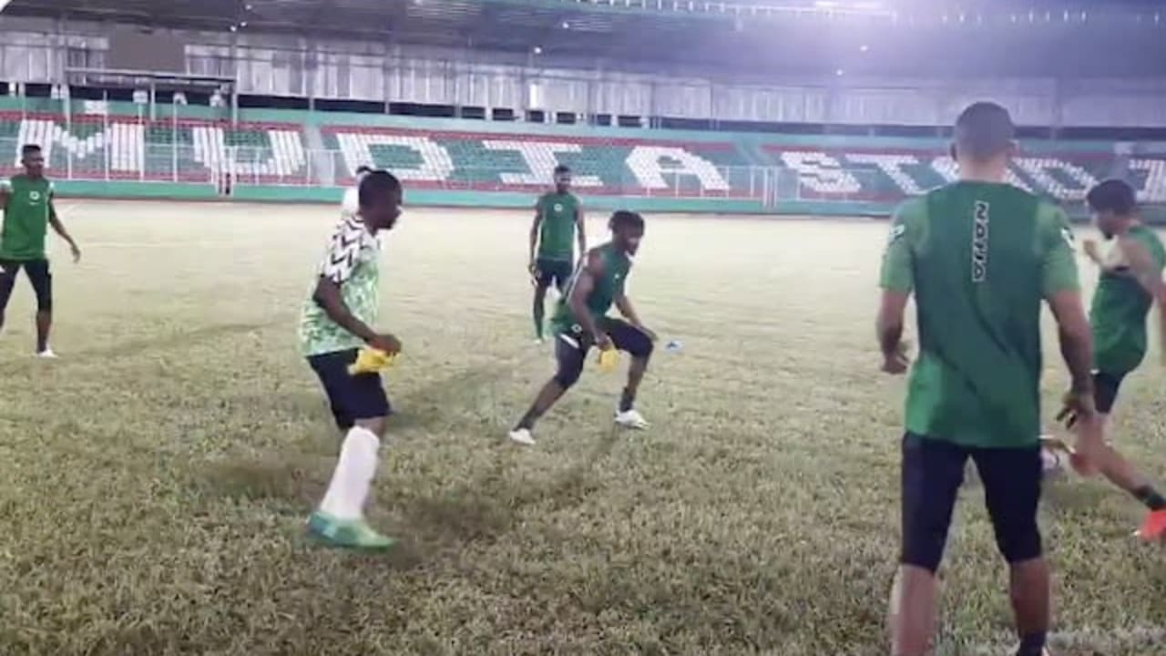 Super Eagles train for AFCON meeting with Sierra Leone