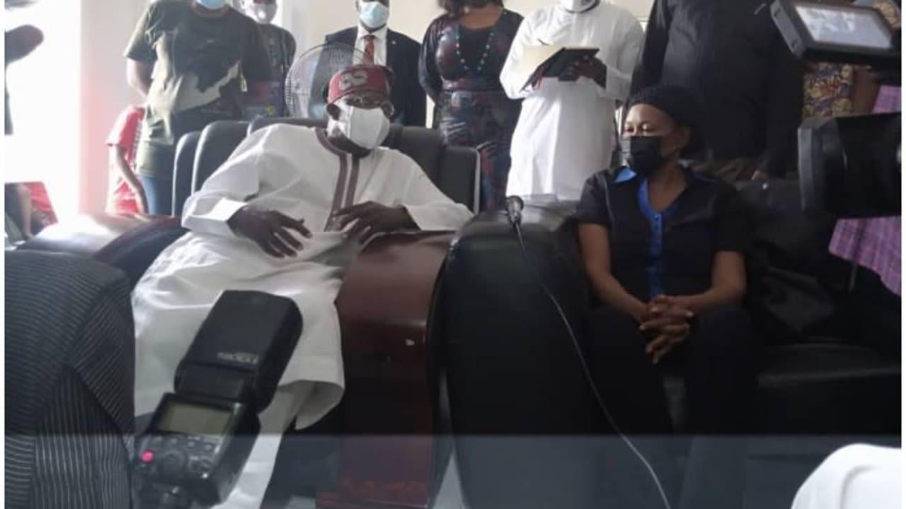 JUST IN: Tinubu visits Yinka Odumakin's widow Joe Okei