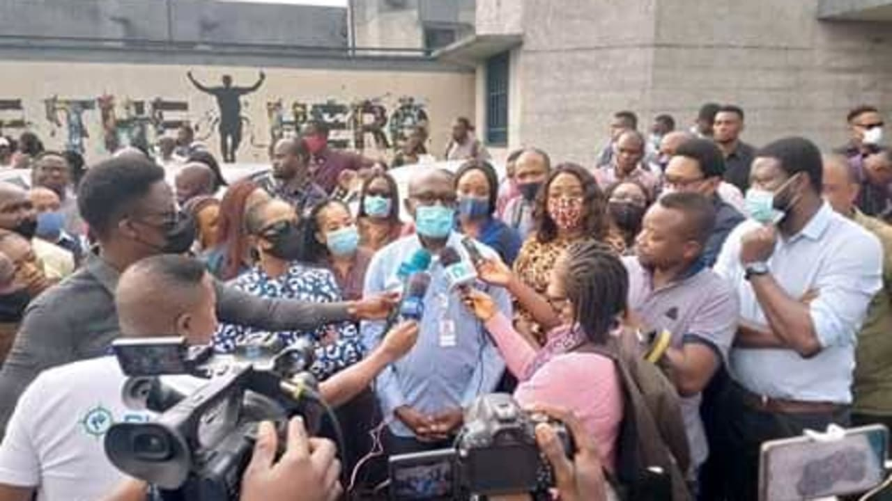 Protest at Port Harcourt Disco over sack of 150 workers