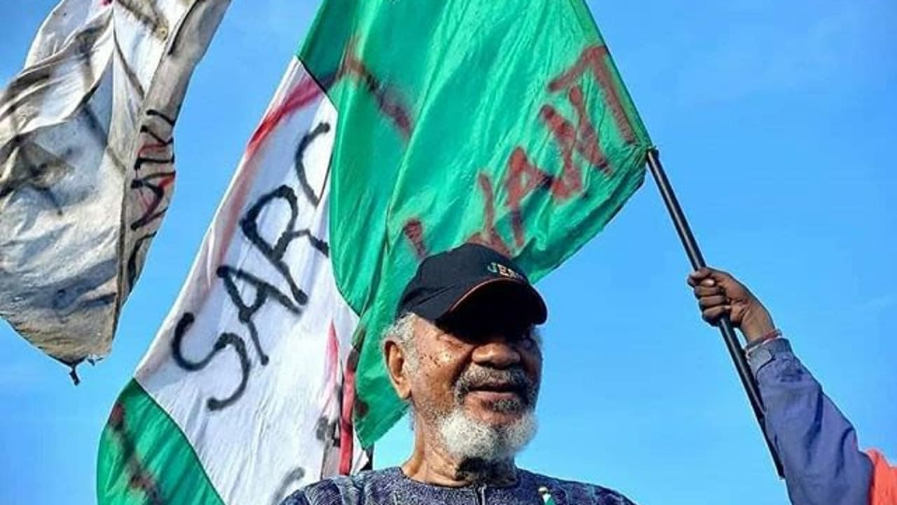 Actor Mofe Duncan's 89 year-old dad supports #ENDSARS protest