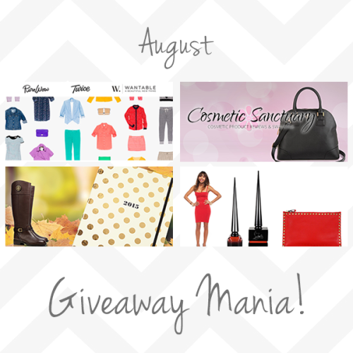 Blog Giveaway Winners August 2014