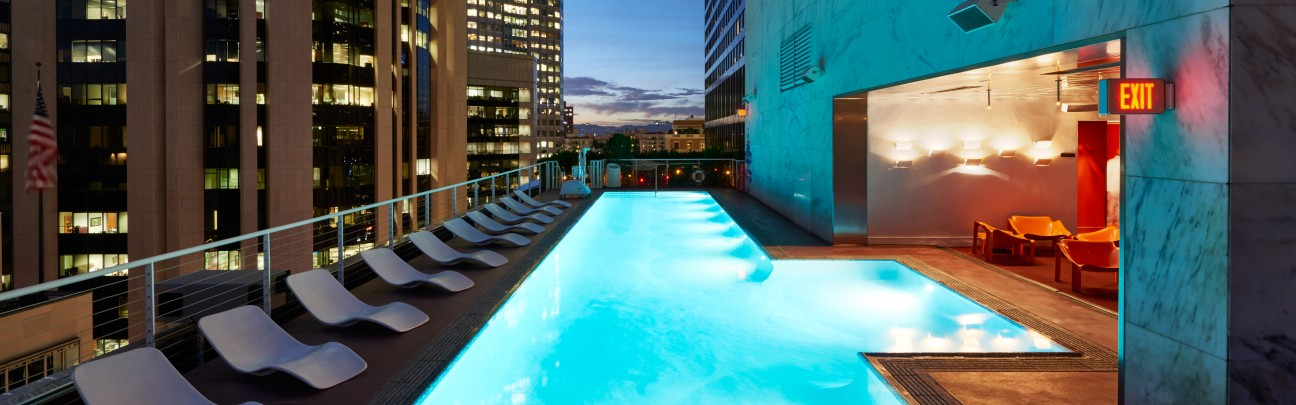 The Rooftop at the Standard view los angeles bar