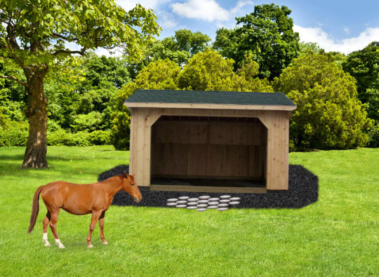 sheds for horses