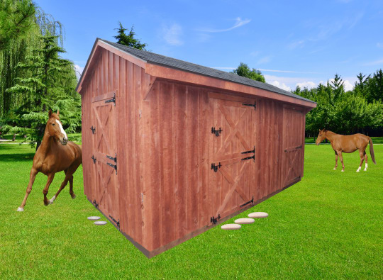 row sheds for horses