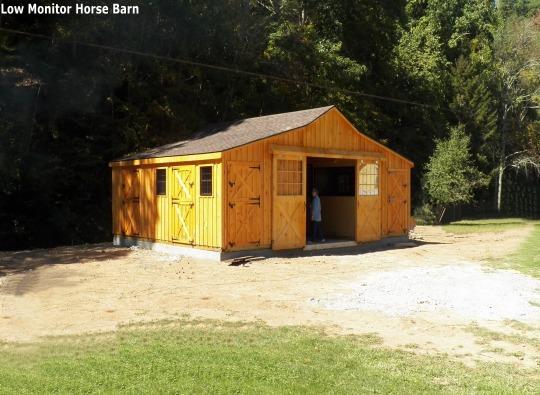 low monitor horse barn