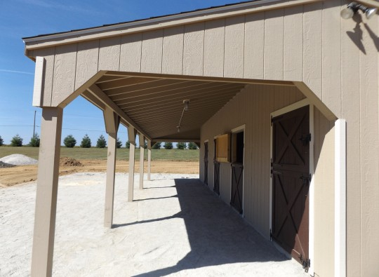overhang for horses