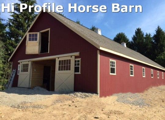 hi profile horse barn