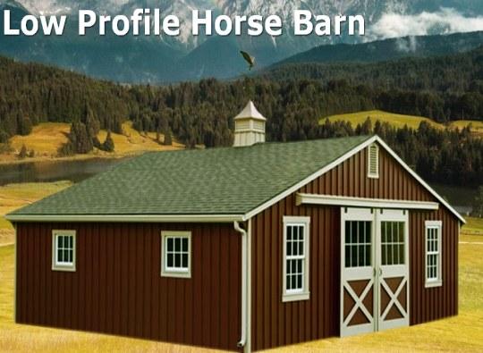low profile horse barn