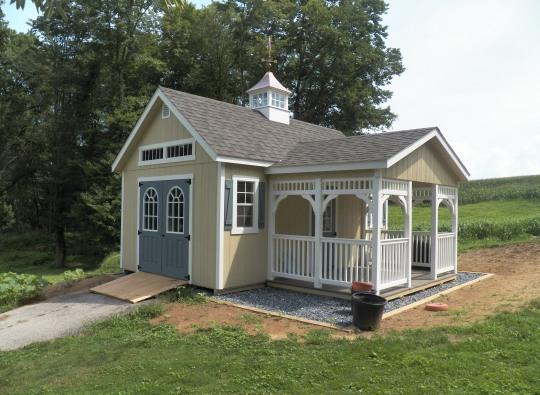 elite workshop with porch