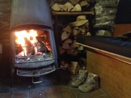 The hut woodburner