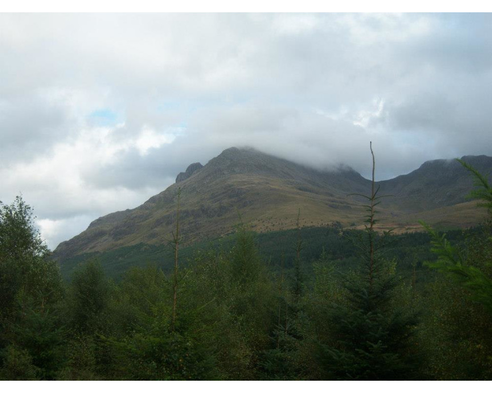 Looking towards Pillar from track back to Ennerdale YHA