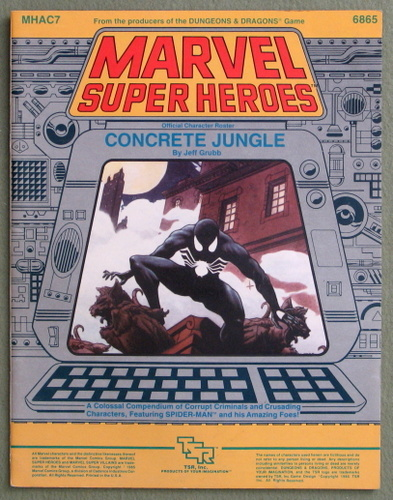 Concrete Jungle (Marvel Super Heroes Accessory MHAC7), Jeff Grubb