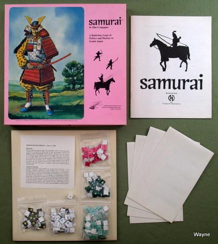 Samurai: A Battleline Game of Politics and Warfare in Feudal Japan, Dan Campagna