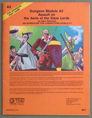 Assault on the Aerie of the Slave Lords (Advanced Dungeons & Dragons module A3), Allen Hammack
