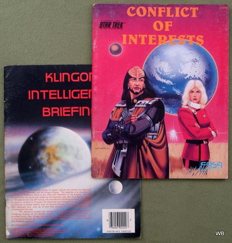 Conflict of Interests/Klingon Intelligence Briefing (Star Trek RPG 2-book set)