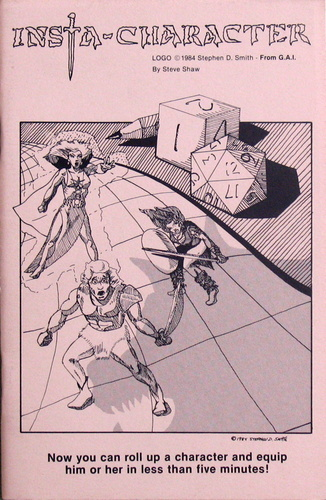 Insta-Character (Advanced Dungeons & Dragons), Steve Shaw & Stephen D. Smith