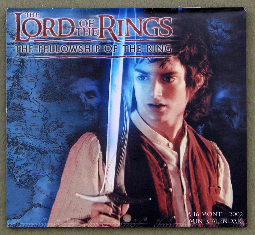 Lord of the Rings: Fellowship of the Ring 2002 Mini Calendar