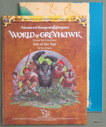 Isle of the Ape (Advanced Dungeons & Dragons/Greyhawk Module WG6), Gary Gygax