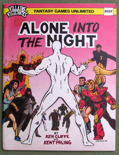 Alone Into the Night (Villains and Vigilantes), Ken Cliffe & Kent Paling