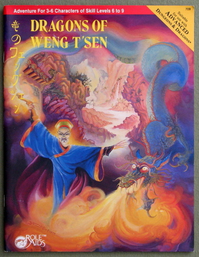 Dragons of Weng T'sen (Advanced Dungeons & Dragons: Role Aids), Delbert Carr Jr. & Cheron