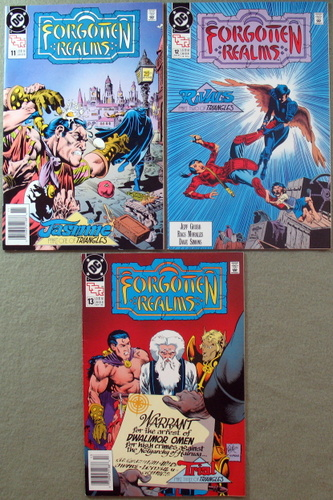 Forgotten Realms Comic, Issues 11-13 (Triangles Series 1-3: Jasmine, Rivals, Trial), Jeff Grubb & Rags Morales & Dave Simons