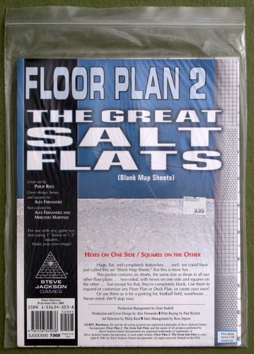 Floor Plan 2: The Great Salt Flats (Blank Map Sheets)