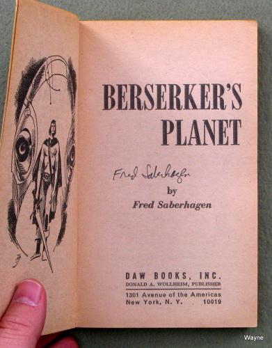 Berserkers Planet - SIGNED, Fred Saberhagen