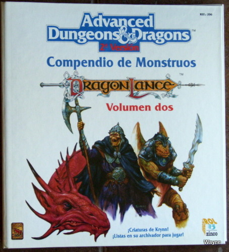 Compendio de Monstruos, Volumen dos: Dragonlance (Advanced Dungeons & Dragons, 2a Version)