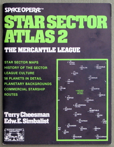 Star Sector Atlas 2 - The Mercantile League (Space Opera), Terry Cheesman & Edward E. Simbalist